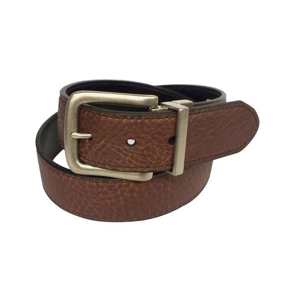 John Deere Western Belt Mens 38MM Reversible Brown Black