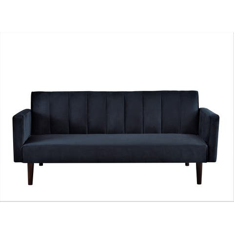 Peterson Striped Velvet Sofa Bed Sleeper