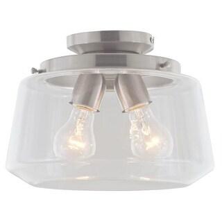 DVI Lighting DVP13911 Levant 2 Light Semi Flush Ceiling Fixture
