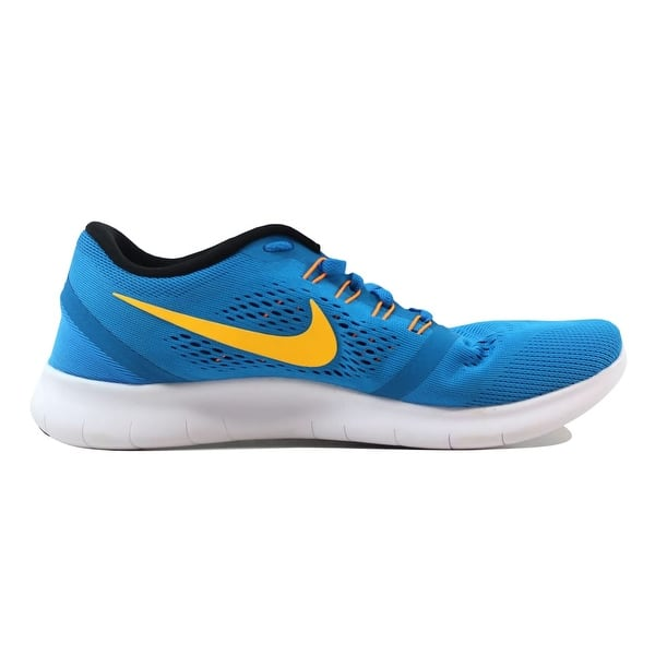 Aumentare penna biblioteca  Shop Nike Free RN Heritage Blue/Yellow 831508-402 Men's - Overstock -  21141587