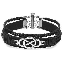 Multi-Strand Infinity Bracelet (Blk/Silver) - Exclusive Beadaholique Jewelry Kit