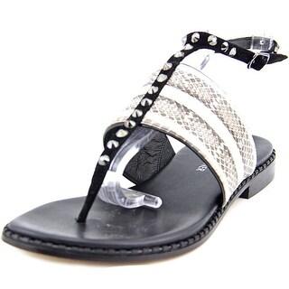 Donald J Pliner LacySP Women Open Toe Leather Ivory Thong Sandal