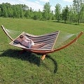 Sunnydaze Wooden Curved Arc Hammock Stand - Thumbnail 8