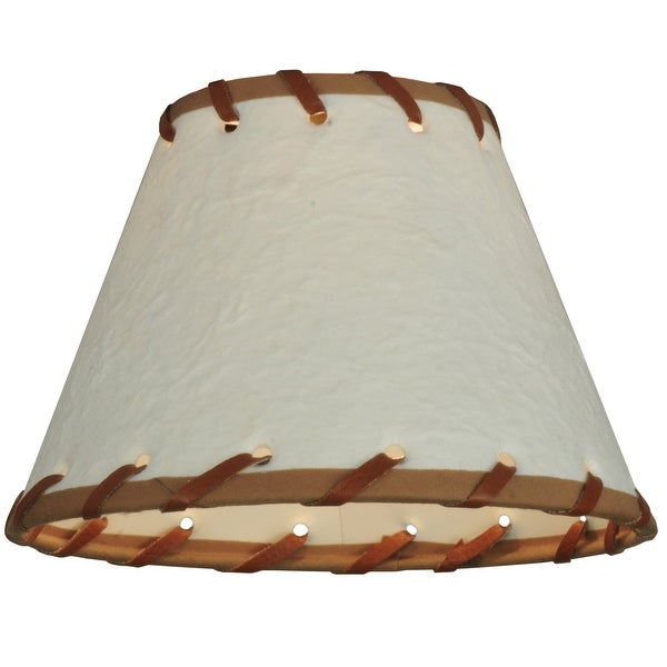 6.25 In. Wide X 4.25 In. High Parchment & Rawhide Shade. Opens flyout.