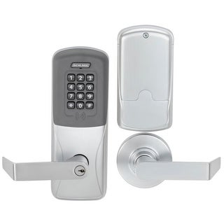 Schlage CO-200-CY-70-PRK-RHO CO-Series Commercial Electronic Cylindrical Lock with Proximity / Keypad and Rhodes Lever