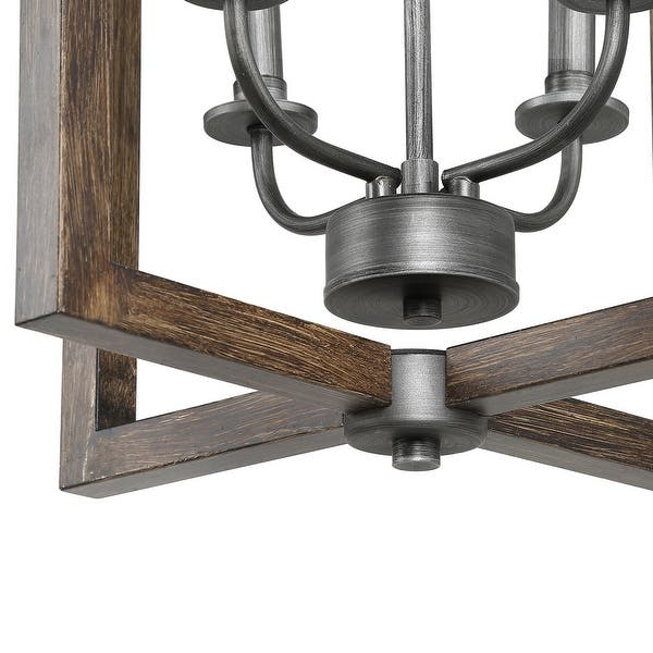 Modern Farmhouse 4 Lights Faux Wood Pendant Lighting Fixture For Kitchen Island Dining Room W16 5 Xh20 Overstock 29817467