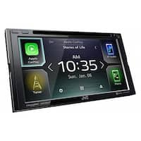 """JVC KW-V850BT 6.8"""" CD/DVD Receiver w/ Apple CarPlay and Android Auto - Black"""