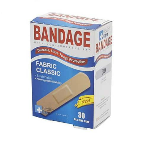 Health Care 79221585 Flexible Fabric Bandages w/ Non-Stick Pad, 30-Count