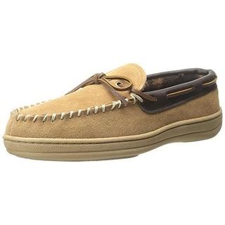 Florsheim Mens Suede Fleece Lined Loafer Slippers