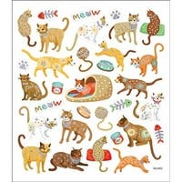 Cats Meow - Multicolored Stickers