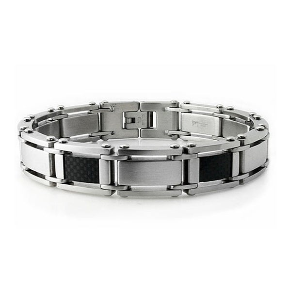 Stainless Steel Men's Link Bracelet - 8.5 inches