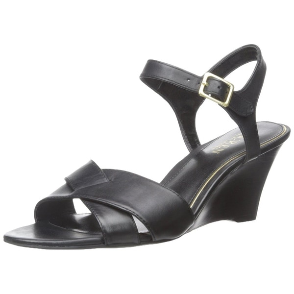 LAUREN by Ralph Lauren Womens Heila Leather Open Toe Casual Platform Sandals