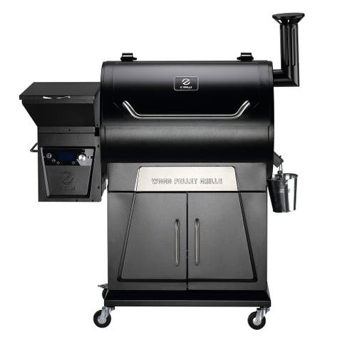 Z GRILLS 700D3 Upgrade Wood Pellet Grill & Smoker, Auto Temperature Control, 697 sq inch Cooking Area (Cover Included)
