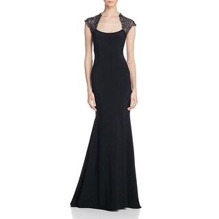 Aqua Womens Formal Dress Metallic Lace