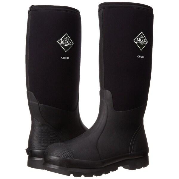0a45d8723b6 Muck Boot CHH000A-8 Chore Classic Hi Work Boot, Black, Unisex 8 Men/9 Women