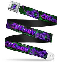 Catwoman Whip Pose Face Close Up Full Color Black Greens Purples Catwoman Seatbelt Belt