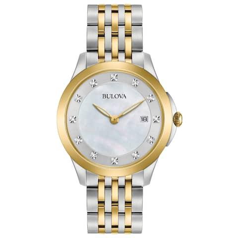 Bulova Women's 98P161 Two-tone Stainless Diamond Accent Bracelet Watch