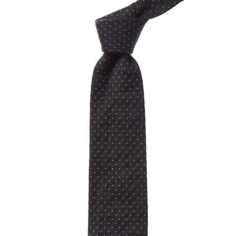 Bonobos Black Pepper Alness Dot Wool & Silk-Blend Tie - os