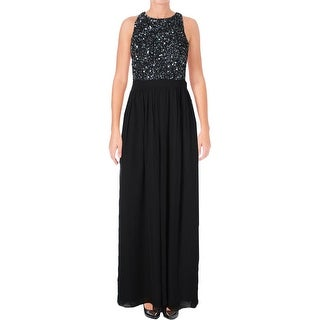 Aqua Womens Evening Dress Embellished Sleeveless