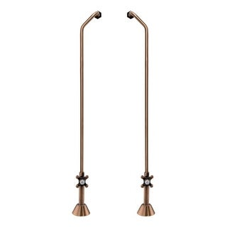 Signature Hardware 900515 Freestanding Offset Tub Supply Lines with Cross Handle - N/A
