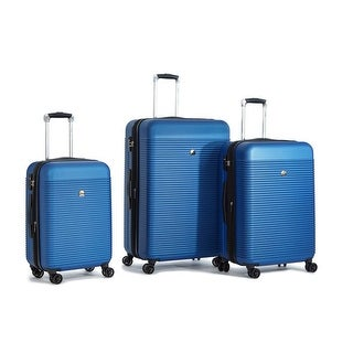 Delsey Panorama 3 Piece Expandable Set, Blue