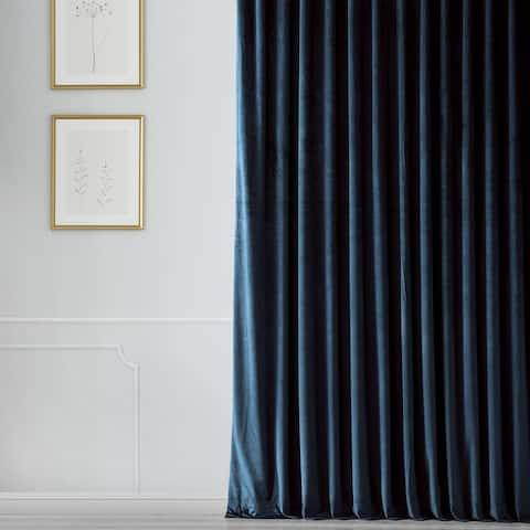 Exclusive Fabrics Heritage Plush Velvet Extrawide Curtain