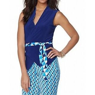 Nikki by Nikki Poulous NEW Blue Womens Medium M Evie Reversible Vest
