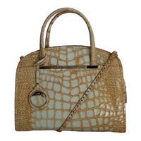 Cavalli Cavalli Orange Leather Shoulder Satchel Bag - One size