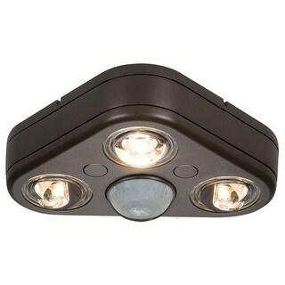 Cooper Lighting REV32750M Triple Head LED Floodlight, Bronze