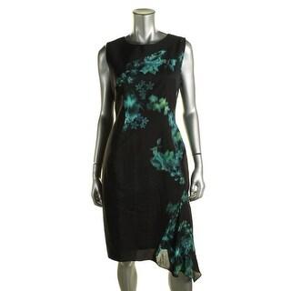 Elie Tahari Womens Silk Panel Asymmetric Wear to Work Dress - 2