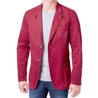 WEATHERPROOF NEW Tandoori Red Men Large L Two Button Over Dyed Blazer
