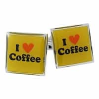I Love Coffee Espresso Java Cufflinks