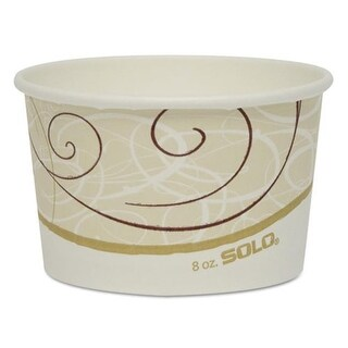Single Poly Paper Containers, Symphony Design - 8 oz.
