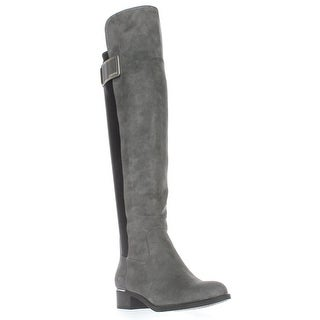 Calvin Klein Cyra Wide Calf Turlock Boots, Shadow Grey/Black