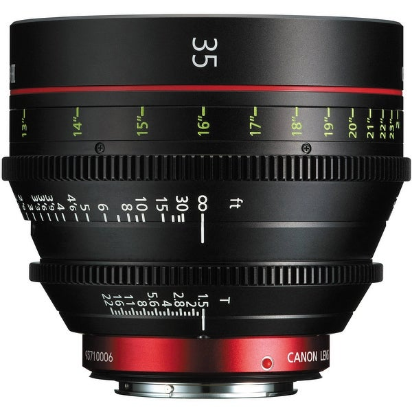 Canon CN-E 35mm T1.5 L F Cinema Prime Lens (EF Mount) (International Model) - Black