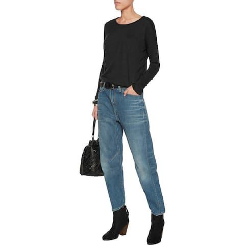 Rag and Bone Womens Engineer Cropped Boyfriend Jeans Size 25