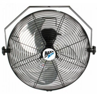 """MaxxAir HVWM18 High Velocity Wall Mount Fan with 3-Speed Pull Chain, 18"""""""
