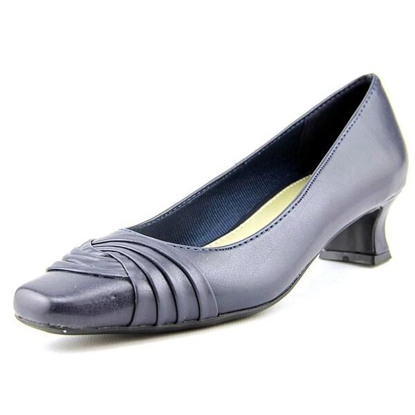 Easy Street Tidal Women Round Toe Synthetic Blue Heels