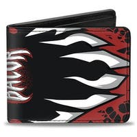 Finn Balor Demon Teeth Close Up Black Red White Bi Fold Wallet - One Size Fits most
