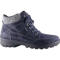 ara Women's Scarlet 49344 Ankle Boot Ocean Suede