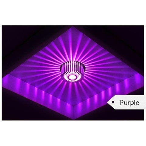 Modern LED Ceiling Light 3W Wall Sconce Gallery Decoration Balcony Lamp Porch Light Corridors Light Fixture Purple - Medium