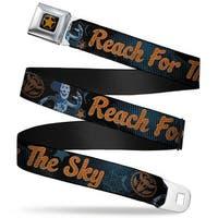 Woody Sherriff Star Reverse Brushed Gold Woody Reach For The Sky Denim Blue Seatbelt Belt