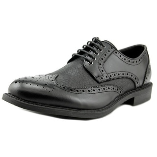 Robert Wayne Jace Men  Wingtip Toe Leather Black Oxford