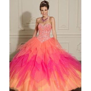 Strapless Embellished Tulle Ball Gown