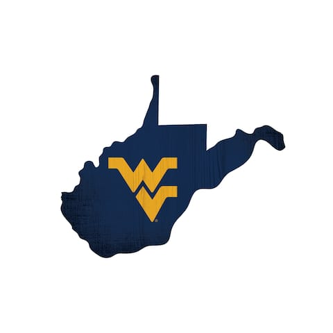 West Virginia Mountaineers Sign Wood Logo State Design