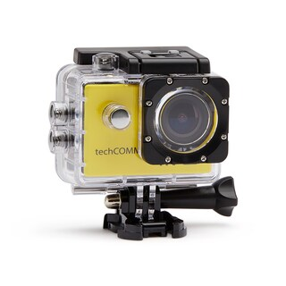 TechComm SPH9 Ultra 4K 16MP Waterproof Action Camera with Accessories (Option: Yellow)