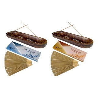 Kasa Style Double Incense Burner 100gr Ancient Sensations Premium Incense Sticks - 1 Burner - 1-100 Grams Incense Sticks