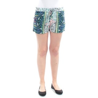 $90 BEBOP New Womens 1517 Blue Printed Cropped Short Juniors S B+B