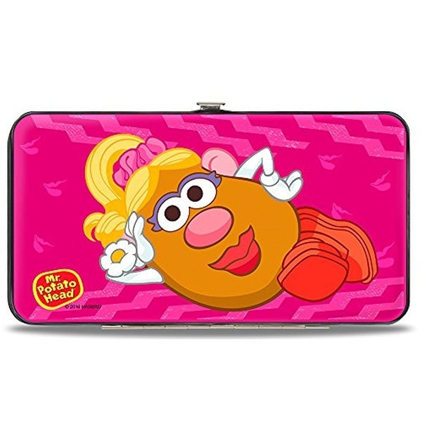 Mrs. Potato Pose Logo Pinks Hinged Wallet One Size - One Size Fits most