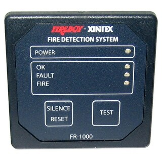 "Xintex 1 Zone Fire Detection & Alarm Panel 2 5/8"" Square - FR-1000-R"